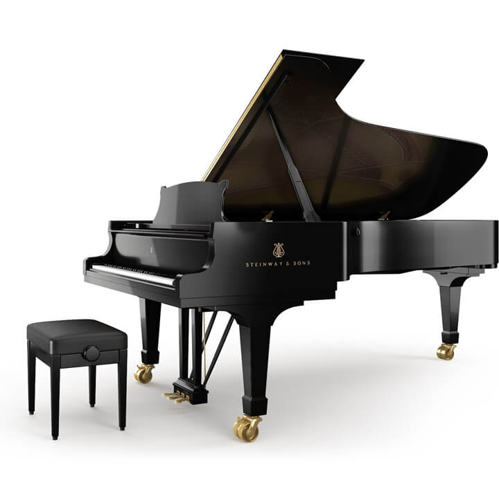Steinway & Sons concert grand piano D-274 in black