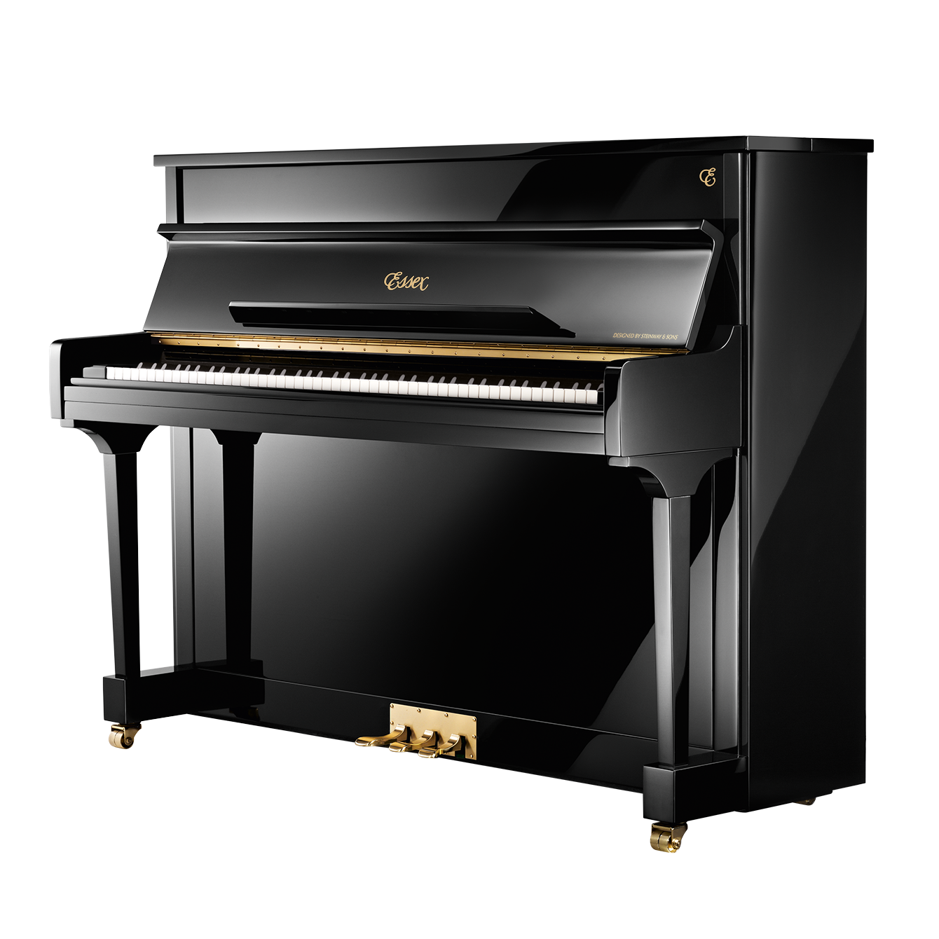 Essex upright piano eup 111e for Piano upright dimensions