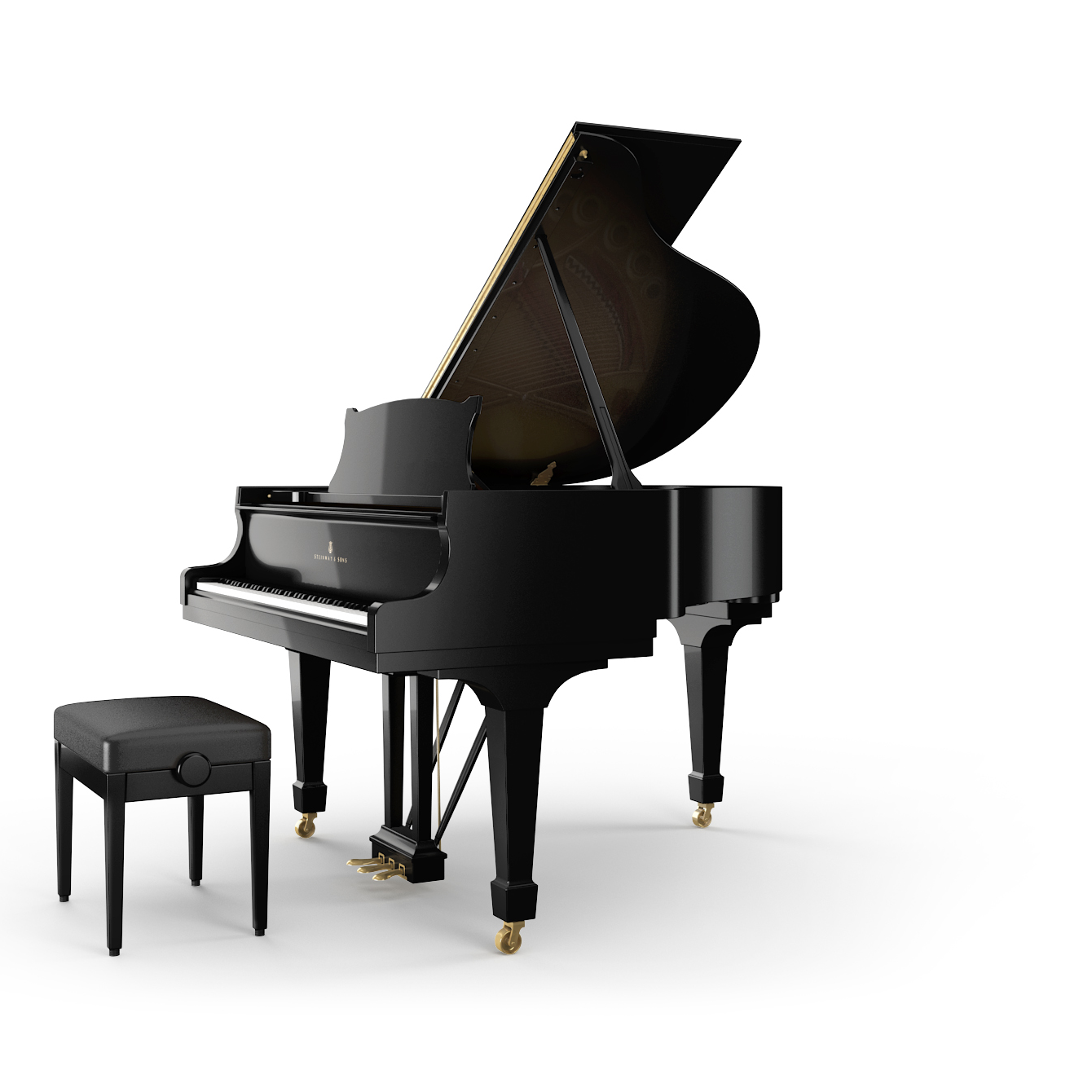 Steinway sons grand piano s 155 the piano details for Smallest piano size