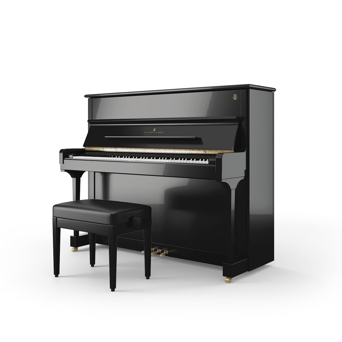 steinway upright piano v 125. Black Bedroom Furniture Sets. Home Design Ideas